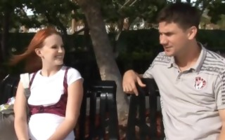 hot redhead acquires a creampie