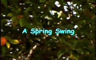 a spring swing