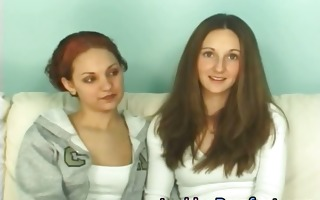 lesbo gals casting on the sofa part6