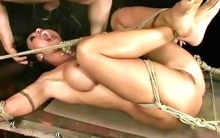breasty slut receives bondaged and punished