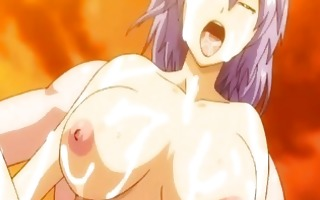 breasty hentai cuties brutally groupfucked by