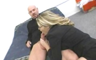 breasty milf in glasses receives poked hard