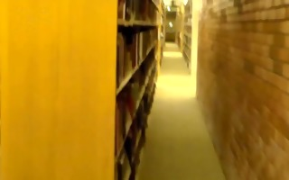 filmed undressed in library