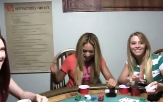 youthful angels gangbang on poker night
