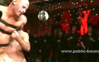 homosexual sex villein drilled in public group