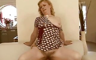 granny getting her hairy love tunnel drilled hard
