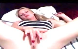 milf masturbates for the camera part 1