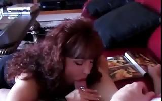 sexy latin chick milf vanessa bella sucks cock