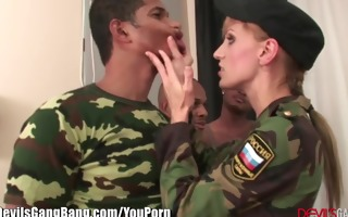 interracial gangabang in army uniform