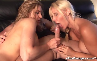 bigboobs 3some turns into swinger fuckfest