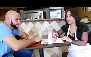 hawt latin babe waitress has a thick spanish ass