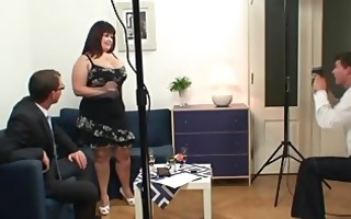 giant titted doxy takes cocks after photosession