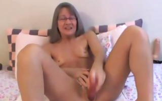 sweet petite granny leilani with glasses pounds