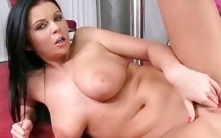 amazingly titted christina jolie whacks her slit
