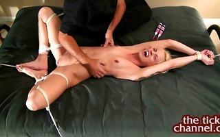 tattooed blond undressed tickling