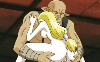 ogre bangs hentai elf!