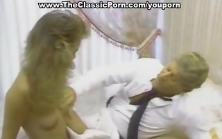 vintage blonde riding large dick